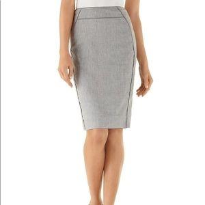 White House Black Market Gray Suit Skirt